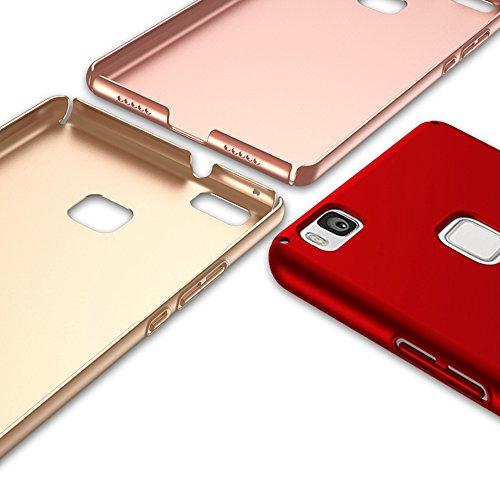 Huawei P9 Lite/G9/P9 min Funda, Huawei P9 Lite/G9/P9 min Case Cover[Silky]Alta Calidad Ultra Slim Anti-Rasguño y Resistente Huellas Dactilares Totalmente Protectora Caso de Plástico Duro(SJLC6-4) A