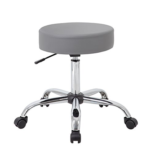 Boss Office Products B240 Gy Adjustable Upholstered