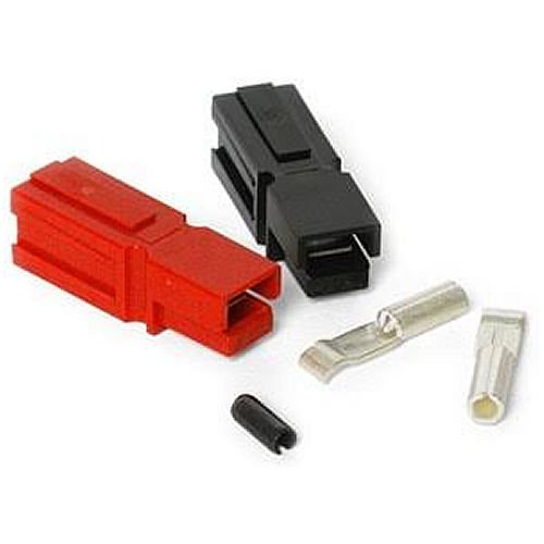 Valley Enterprises 15 Amp Unassembled Red/Black Anderson Powerpole Connectors Complete with Roll Pin (10 Sets)