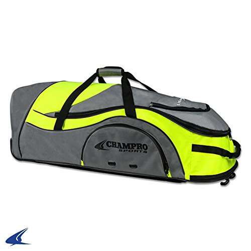 - Champro Sports Catcher's Roller Bag, Optic Yellow, 36