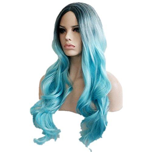 Longlove Ladies wig wig Halloween makeup ball play game wig ... (YYCurly wig9)