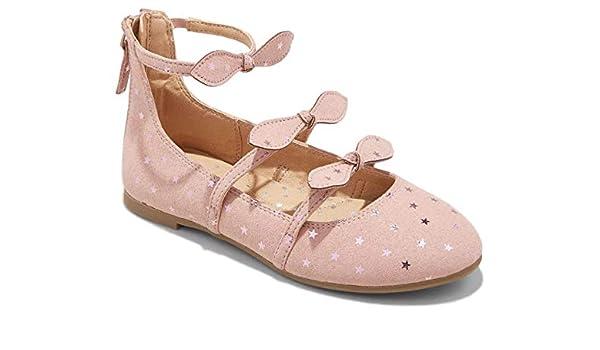 2 Scoops Shoes Orange Sorbet Girls Lambskin Ballet Flat