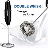 Double Whisk Milk Frother Handheld, Upgrade