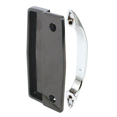 Prime-Line Products A 112 Sliding Screen Door Pulls, Black Plastic/Chrome Diecast