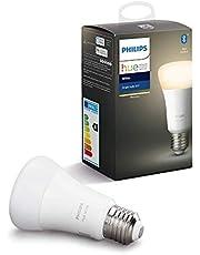 Philips Lighting Hue White Lampadina LED Connessa, Attacco E27, Dimmerabile, Luce Bianca Calda, 1 Pezzo, Versione 2019