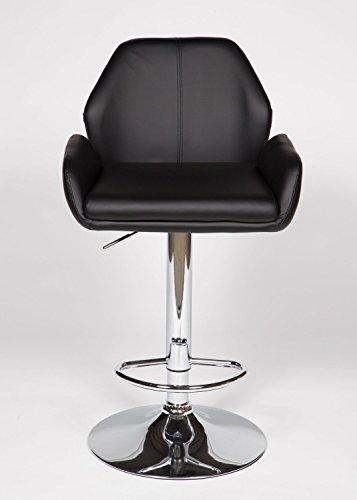 Cheap 2 Black Modern Adjustable Counter Swivel Pub Style Bar Stools / Barstools (Black)