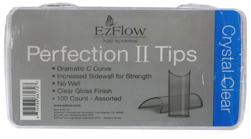 EZ Flow Perfection Ii Tips, Crystal Clear, 100 ()