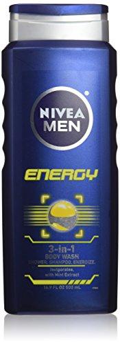 Nivea For Men Body Wash – Energy – 16.9 oz – 2 pk