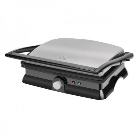 Kalorik 1400-Watt Non-Stick Contact Grill and Panini Maker, Black