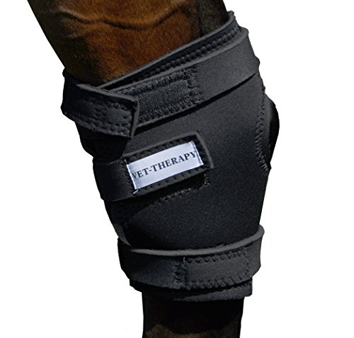 Vet Therapy 107836 Therapeutic Fir Fleece Lined Neoprene Horse Hock Supports (Set of 2), Small ()