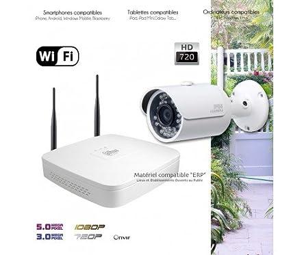 Dahua – Sistema de Video Vigilancia WIFI con 1 Cámara exterior – kit-360 –