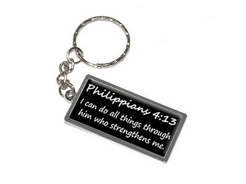 Graphics and More Philippians 4-13 I can do all things through him who strengthens me. Christian Bible Keychain Ring (K0765)