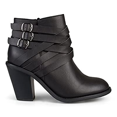 Brinley Co Women's Buckle Ankle Boot