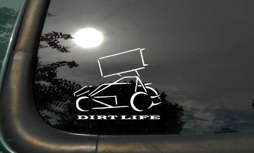 Sprint Car Dirtlife - Die Cut Vinyl Window Decal/sticker for Car or Truck ()