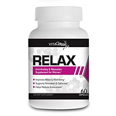 Vitamiss Relax - Anxiety Relief & Stress Support, Promotes Relaxation, Calm Sleep, & Mood Support, Relief from Stress, Anxiety, and Depression