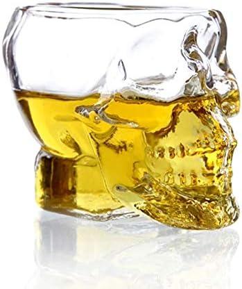 AMAZOM Vaso De Chupito De Calavera, Taza De Calavera, Copa De Vino De Calavera, Copa De Whisky, Copa De Absenta Vasos De 120 Ml O Cenicero Creativo,6
