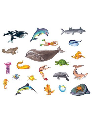 Ocean Sea Life felt figures for Flannel boards add on pack- 21 (Flannel Board Pieces)