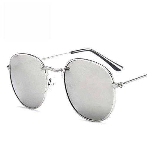 Reflective A Trend Sol Metal Mujer Sol Frame De GUOHONGCX Casual Round De Espejo Rana Y Gafas Marine F Cycling Big Gafas Glasses Blinding Colorful Hombre qzSwxvxIt