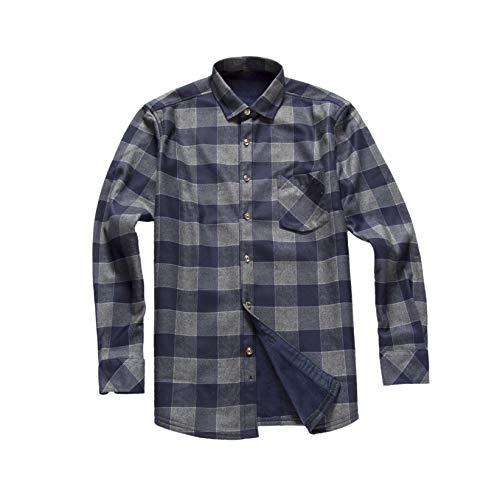 - AOLIWEN Men's Fleece Lined Winter Warmth Flannel Long Sleeve Shirts (L, Gray)