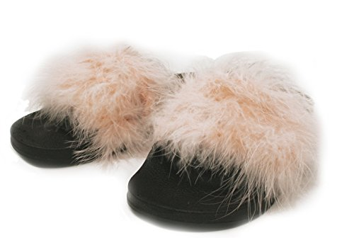 Sandal Women's Pink Fur Faux Indoor APPARELISM Light Flip Slippers Slide Open Outdoor Flop Toe PqSnxdn