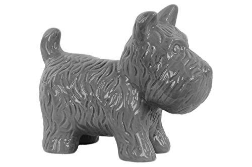 Urban Trends Ceramic Standing Welsh Terrier Dog Figurine Gloss Finish Gray