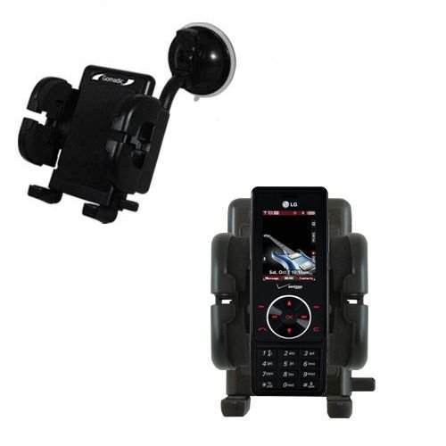 (Gomadic Brand Flexible Car Auto Windshield Holder Mount designed for the LG Chocolate - Gooseneck Suction Cup Style Cradle)