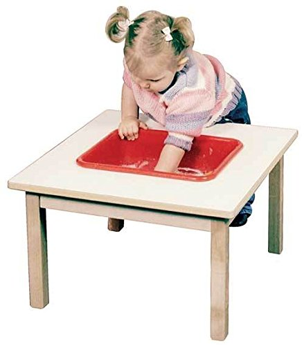 Toddler Sand & Water Table in Natural Finish (Birchwood Finish Table)