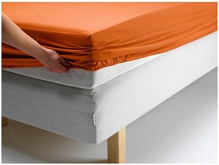 Ikea Spannbettlaken Gaspa Komfort Laken Aus Kammgarnbaumwolle In Satin Webart Fadendichte 310 Hotelqualitat Orange Div Grossen 180 X 200 Amazon De Kuche Haushalt