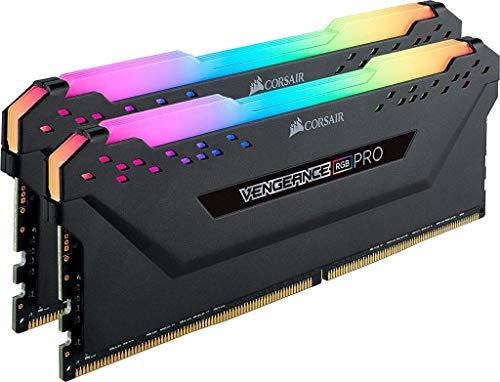 Corsair Vengeance RGB Pro 64GB (2x32GB) DDR4 3200 (PC4-25600) C16 Desktop Memory – schwarz