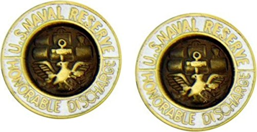 MilitaryBest US Navy Reserve Honorable Discharge Lapel Hat Pin 2 Pack