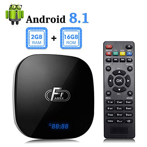 Android 8.1 TV Box, F1 TV Box Android 8.1 2GB RAM 16GB ROM Amlogic S905W Quad Core Media Player Support Ethernet 2.4Ghz WiFi 4K HDMI DLNA 3D Smart Streaming Media Player (Best Dlna Player For Tv)
