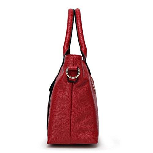 d'épaule Simple Honeymall Main Cuir Messager Sauvage Sac en Mode Gaufré Sacs Rouge Portable à 1qpHUaPq