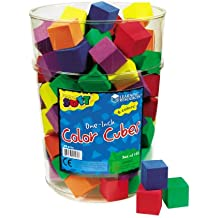 Learning Resources Hands-On Soft Color Cubes, Set of 102