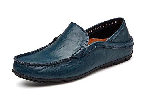 Männer Slip-On Oxford Schuhe Hosen Schuhe Breathable Casual Loafer Leder Schuhe Fahrschuhe Pedal , A , 39