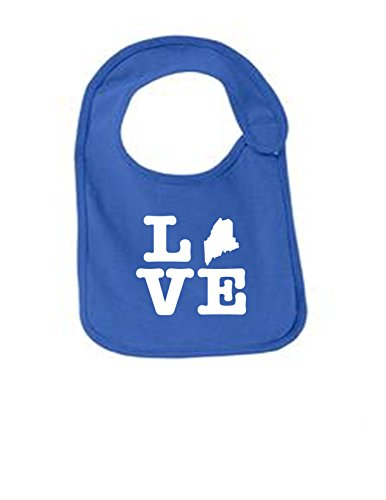 Maine Love Funny Infant Jersey Bib Royal One (Lobster Portland Maine)