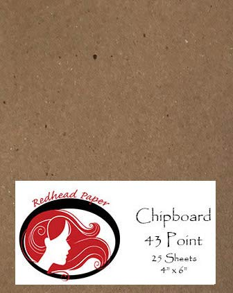 25 Sheets Chipboard Heavy Weight 43 Point (4 x 6 inches)