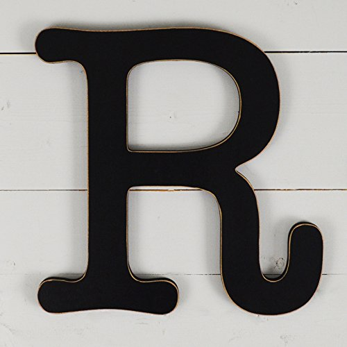 UNFINISHEDWOODCO 11.5 Typewriter Wall Decor Letter R- Black 300577