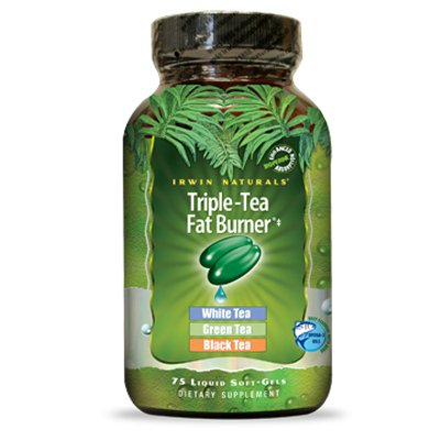 Triple-Tea with White, Green and Black Tea by Irwin Naturals, 75 Liquid Softgels by Irwin Naturals