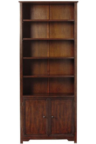 oxford-single-bookcase-with-cabinet-72hx30w-chestnut