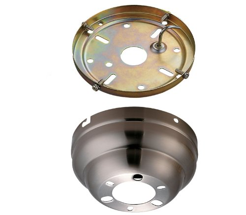 Flush Ceiling Canopy - Monte Carlo MC90BS, Flush Mount Canopy Kit, Brushed Steel