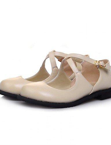 PDX/ Damenschuhe - Ballerinas - Kleid / Lässig - Kunstleder - Flacher Absatz - Mary Jane - Schwarz / Beige / Burgund / Khaki , burgundy-us9 / eu40 / uk7 / cn41 , burgundy-us9 / eu40 / uk7 / cn41