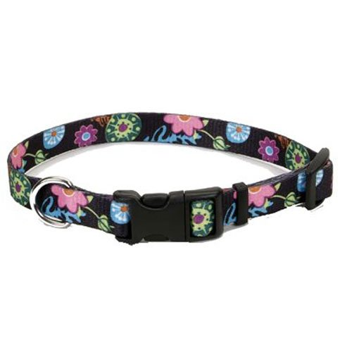 Coastal Pet 06402 A WDF18 Adjustable Collar, 3/8-Inch, Wildflower
