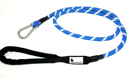 Climbing Cotton Shorts - Mountain Climbing Rope Dog Leash With Carabiner Clasp Clip - Soft Padded Handle - 5 FT Length 1/2