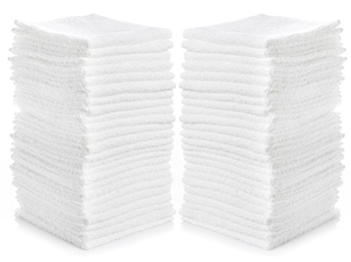 White Rags - Simpli-Magic 79078 Cotton Washcloths (Pack of 24), Size: 12
