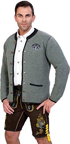 Almwerk Herren Trachten Strick Jacke Modell Ludwig in Verschiedenen Farben