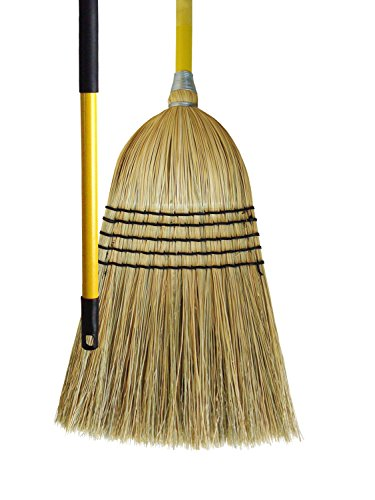 Milwaukee Dustless Brush, Natural corn broom, janitor style, 5 sew