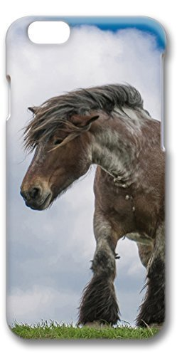 iPhone 6 Case, Personalized Design Protective Covers for iPhone 6(4.7 inch) PC 3D Case - Horse White Cloud