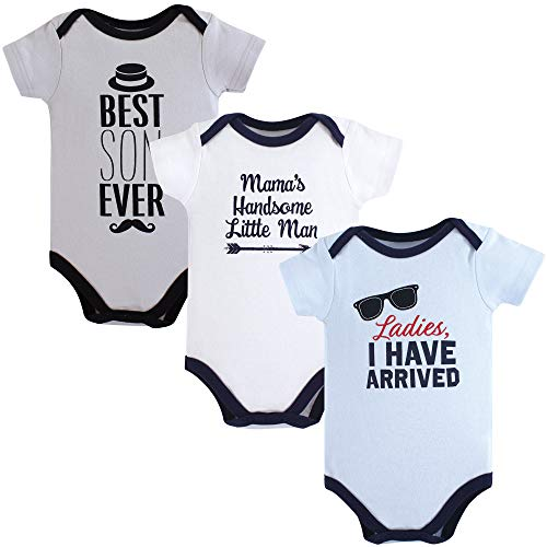 Hudson Baby Unisex Baby Cotton Bodysuits, Ladies I Have Arrived 3 Pack, 0-3 Months (3M)