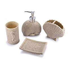 This 4pcs Bath Accessory Set features visually-appealing design,which stands out with its unique touch and contemporary feel.It is so durable that will last for long time,constant use while keeping its appearance just as stunning over years.W...