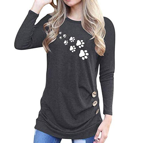 - Women Tops,Gillberry O-Neck Appliques Long Sleeve Loose Tops T-Shirt Blouse